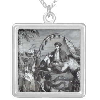 Warren Hastings  in India in 1784 Silver Plated Necklace
