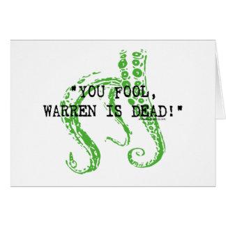 Warren is dead H. P. Lovecraft Greeting Card