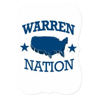 WARREN NATION PERSONALIZED INVITATION