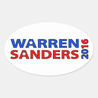Warren Sanders 2016 Oval Sticker