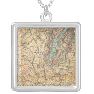 Warren, Saratoga, Washington counties Silver Plated Necklace