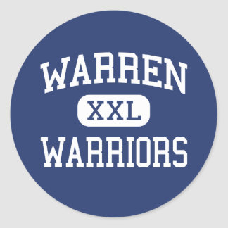 Warren - Warriors - High School - Vincent Ohio Classic Round Sticker