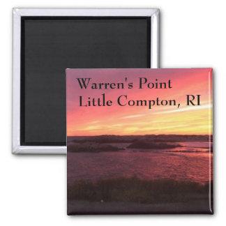 Warren's Point Beach, Little Compton, RI Square Magnet