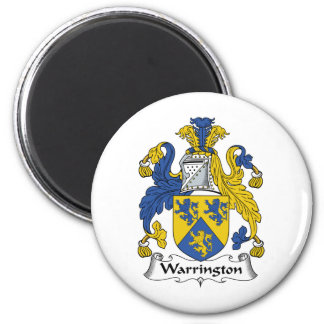 Warrington Family Crest 6 Cm Round Magnet
