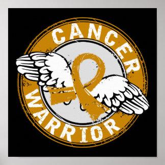 Warrior 14C Appendix Cancer Print