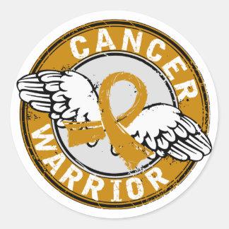 Warrior 14C Appendix Cancer Sticker