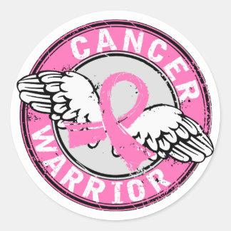Warrior 14C Breast Cancer Round Sticker