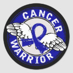 Warrior 14C Colon Cancer Round Sticker