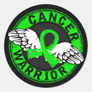 Warrior 14C Non-Hodgkin's Lymphoma Round Sticker