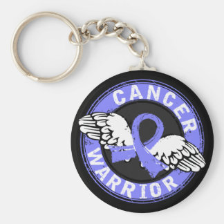 Warrior 14C Prostate Cancer Basic Round Button Key Ring