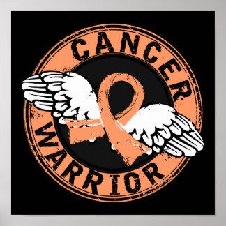 Warrior 14C Uterine Cancer Posters