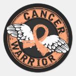Warrior 14C Uterine Cancer Round Sticker