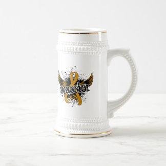 Warrior 16 Appendix Cancer Beer Steins