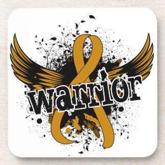 Warrior 16 Appendix Cancer Beverage Coasters