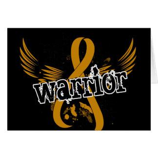 Warrior 16 Appendix Cancer Greeting Card