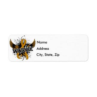 Warrior 16 Appendix Cancer Return Address Label