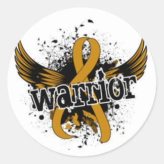 Warrior 16 Appendix Cancer Round Sticker