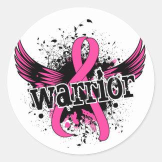 Warrior 16 Breast Cancer Round Sticker