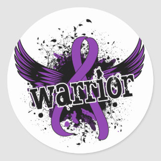Warrior 16 Chiari Malformation Classic Round Sticker
