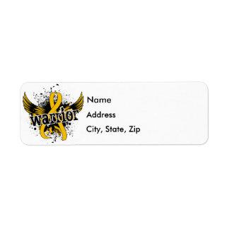 Warrior 16 Childhood Cancer Return Address Label