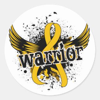 Warrior 16 Childhood Cancer Round Sticker