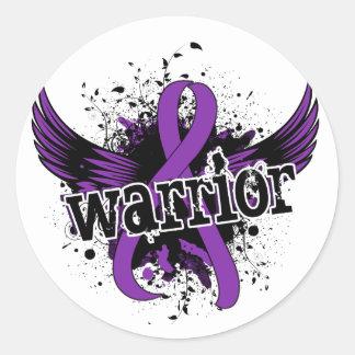 Warrior 16 Crohn's Disease Round Sticker