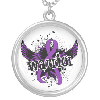 Warrior 16 Crohn's Disease Silver Plated Necklace