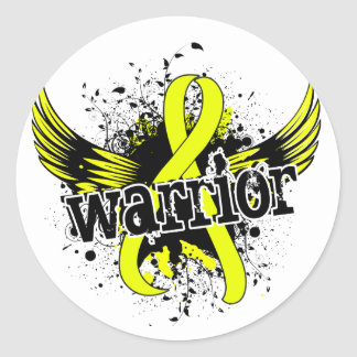 Warrior 16 Endometriosis Classic Round Sticker
