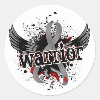 Warrior 16 Juvenile Diabetes Classic Round Sticker