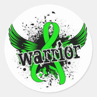 Warrior 16 Non-Hodgkin's Lymphoma Round Sticker