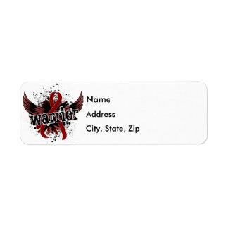 Warrior 16 Sickle Cell Disease Return Address Label