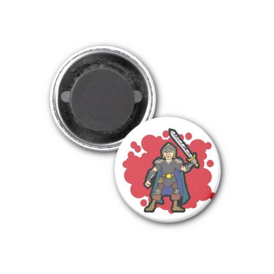 Warrior 3 Cm Round Magnet