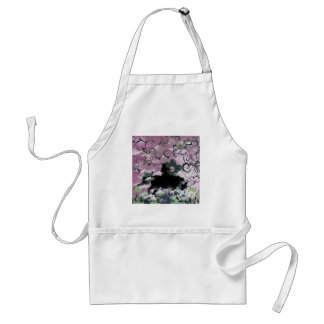 Warrior and flower apron