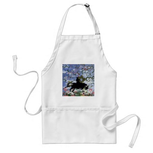 Warrior and flower aprons
