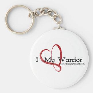 Warrior Basic Round Button Key Ring