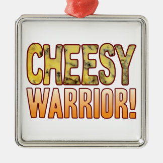 Warrior Blue Cheesy Silver-Colored Square Decoration