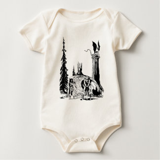 WARRIOR BORN ~ BABY BODYSUIT