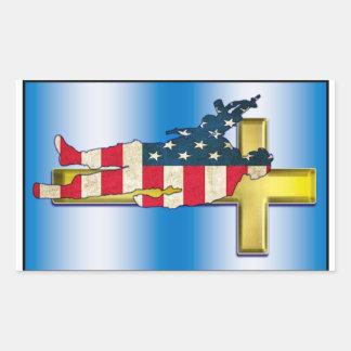 Warrior Cross #1 Rectangular Sticker