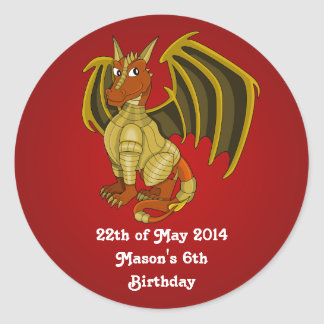 Warrior dragon cartoon Stickers