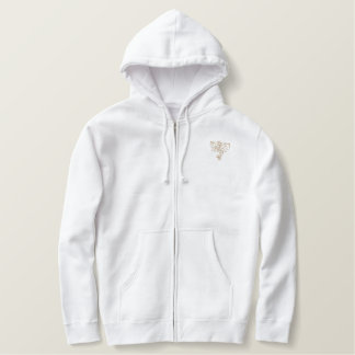 warrior dragon embroidered hoodie