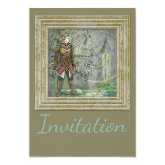Warrior Elf Guarding The Steeple 13 Cm X 18 Cm Invitation Card