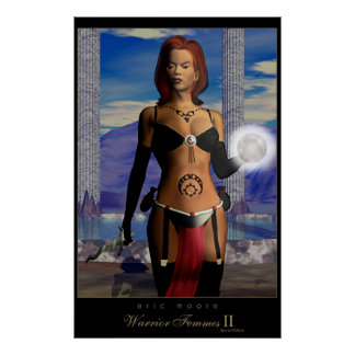 Warrior Femme II special edition Poster
