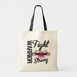 Warrior Fight Strong Breast Cancer Canvas Bag