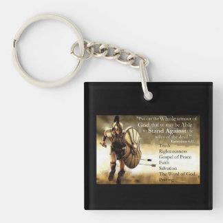 warrior for christ key chain