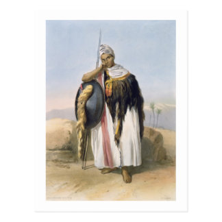 Warrior from Amhara, Ethiopia, illustration from ' Postcard