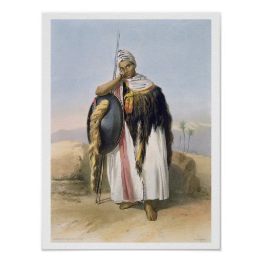 Warrior from Amhara, Ethiopia, illustration from ' Poster