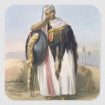 Warrior from Amhara, Ethiopia, illustration from ' Square Sticker