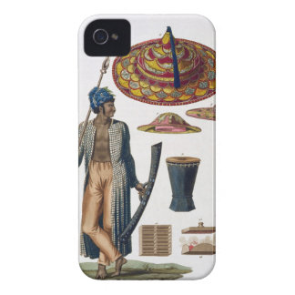 Warrior from Island of Guebe with items of Native iPhone 4 Case