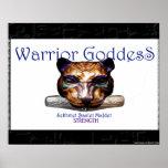 warrior goddess- Egypt Sekhmet/ Bastet/ Mafdet Poster