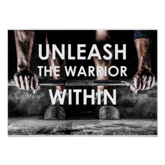 Warrior Gym Weight Training Body Fitness Poster